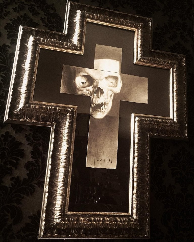 Image of 'THE GIFT OF SIN' - Framed Miniature Open Edition Print