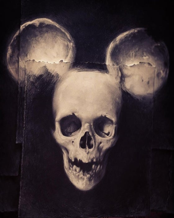 Image of 'SKULL MOUSE' -  Miniature Open Edition Archival Print