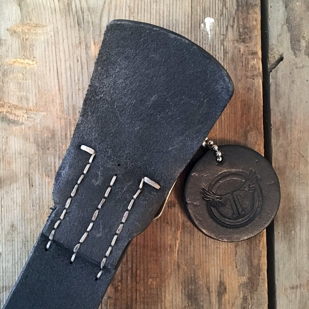 Image of THEDI LEATHERS BELT SLIM BLACK