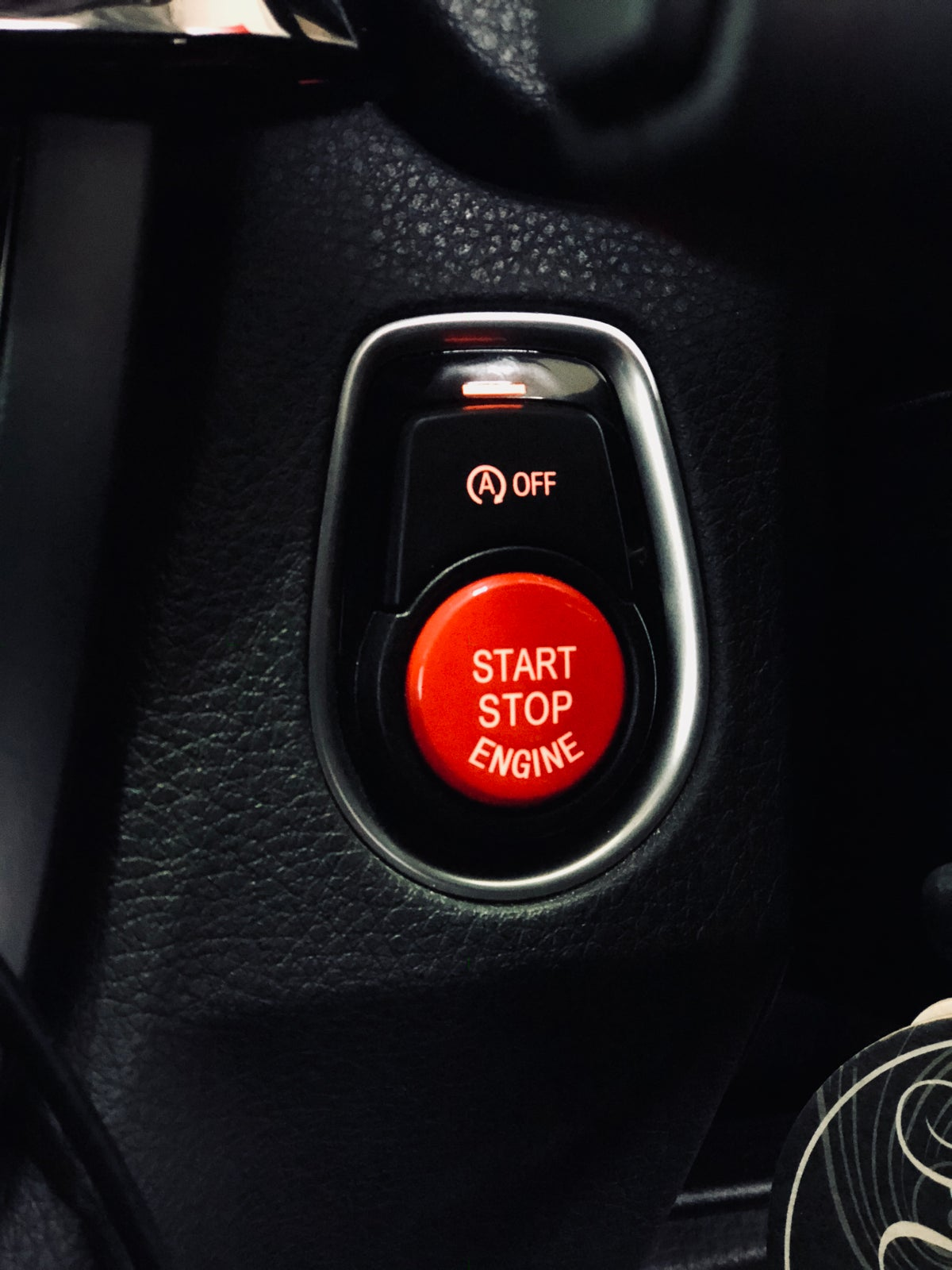 Image of BMW Red Stop/Start Button FREE POST