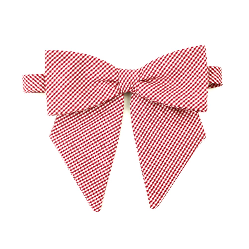 Image of Cherry Gingham Lady Bow