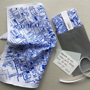 Image of Central London Map Hankie