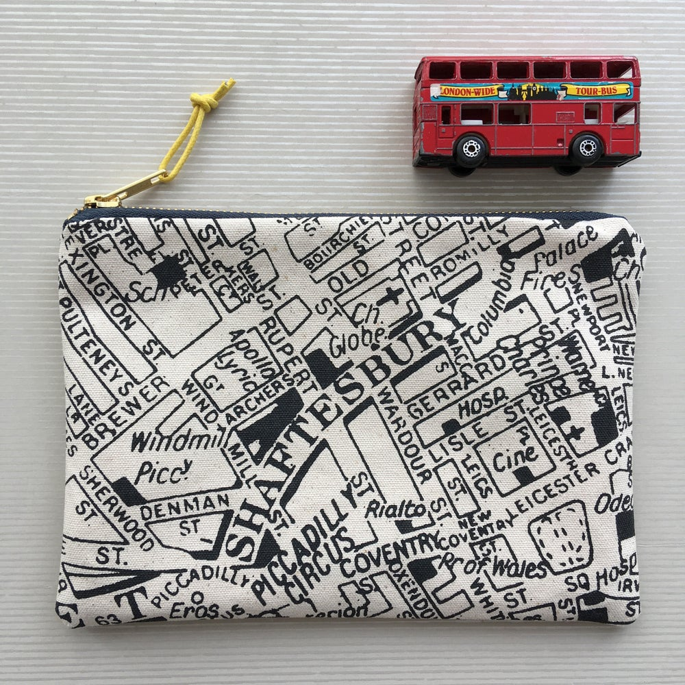 Image of London Map Clutch Purse