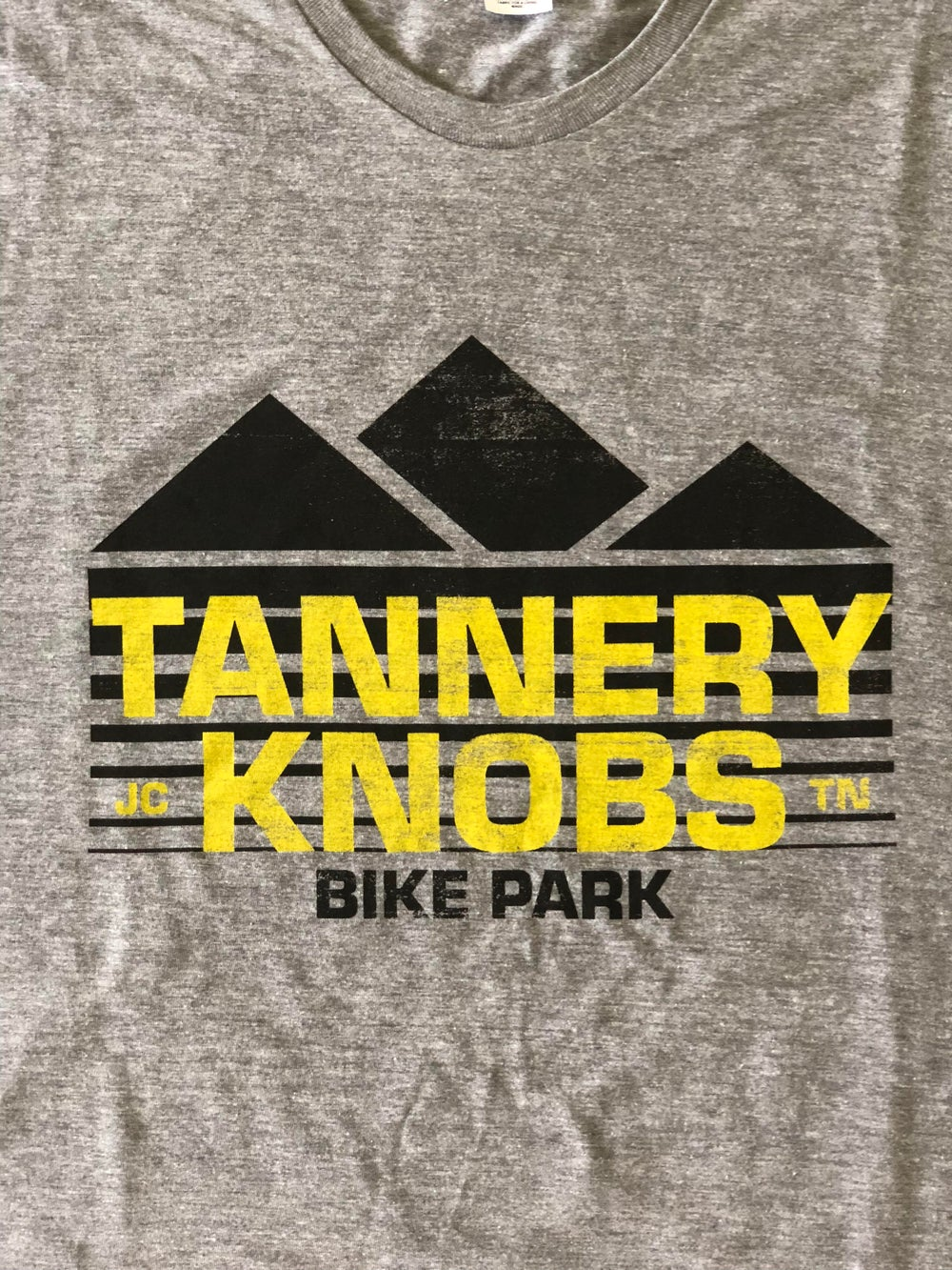 Image of Tannery Knobs Bike Park T-Shirt (Heather Grey)