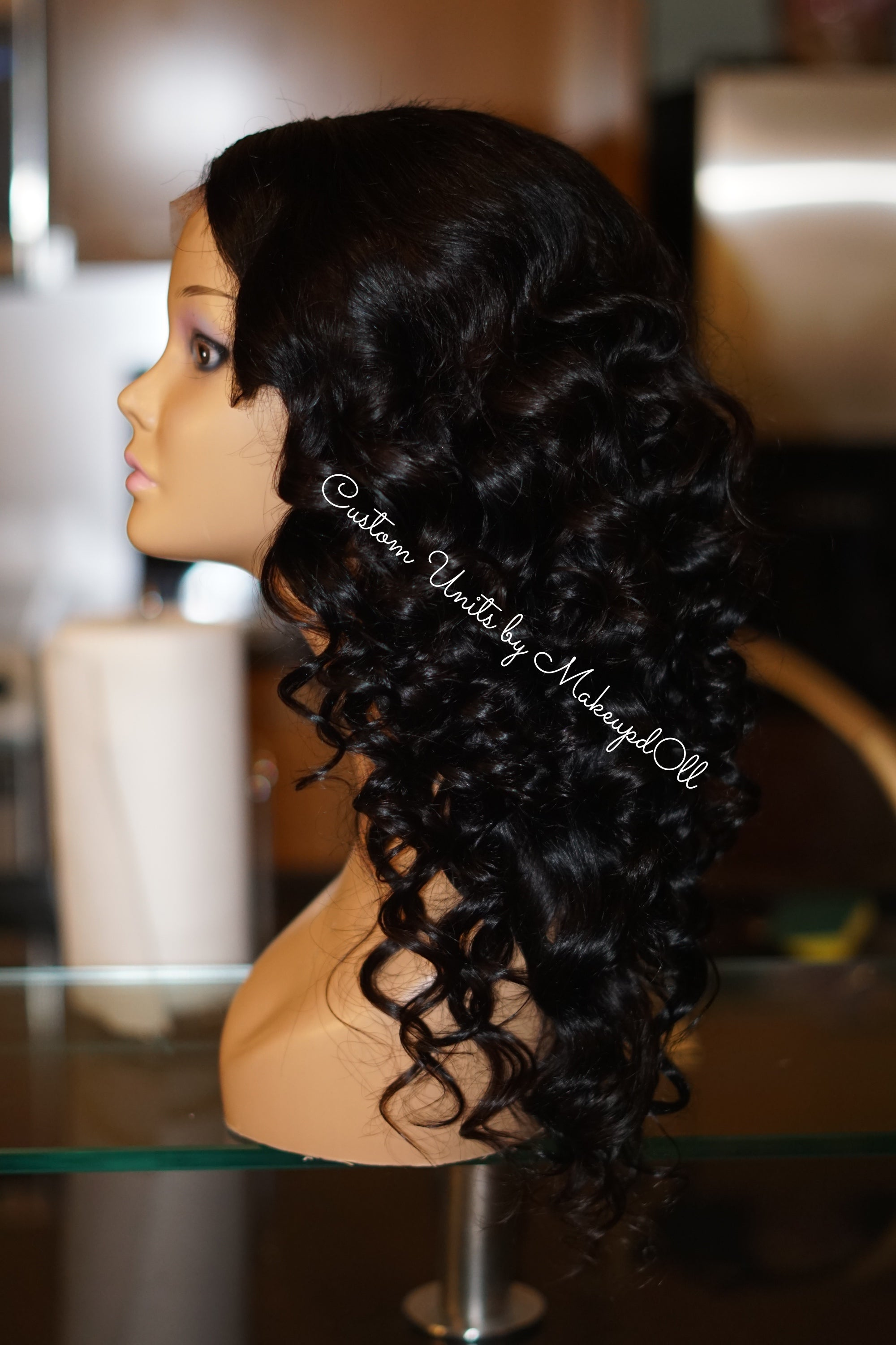 """Image of Cambodian Natural Wave 18"""" Custom Lace Closure Wig!"""