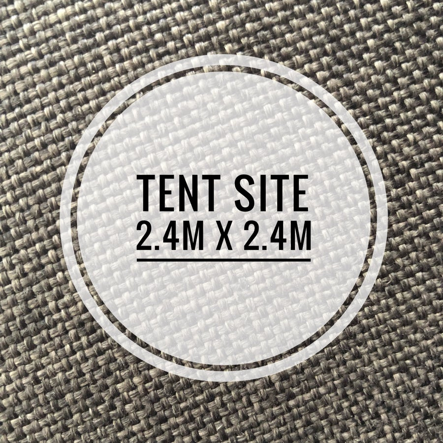 Image of 2.4 by 2.4 metre tent space March 30th