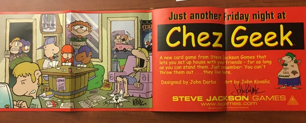Image of Chez Geek Promo Poster - signed