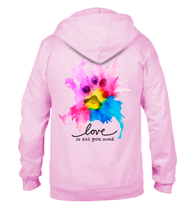 Image of Love Is All You Need Zip Hoodie