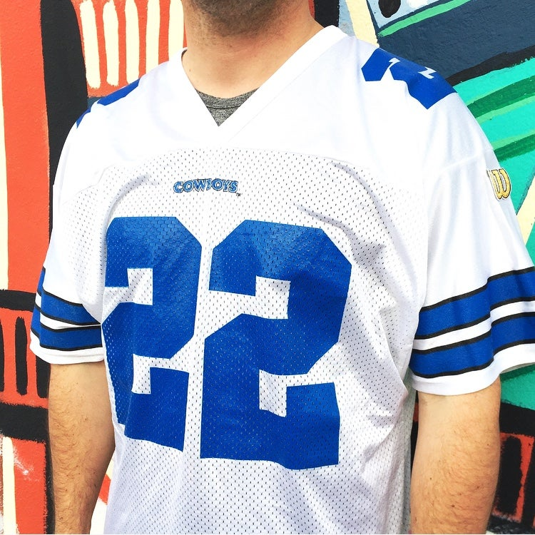 Image of Vintage 1990's Dallas Cowboys Emmitt Smith Wilson Jersey Sz.XL