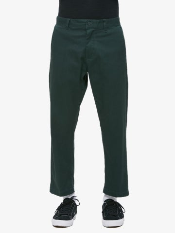 Image of OBEY - STRAGGLER FLOODED PANTS ( FOREST GREEN)