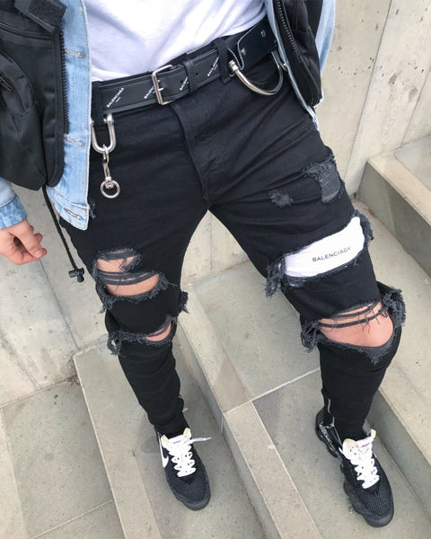 Image of Black BB Denim