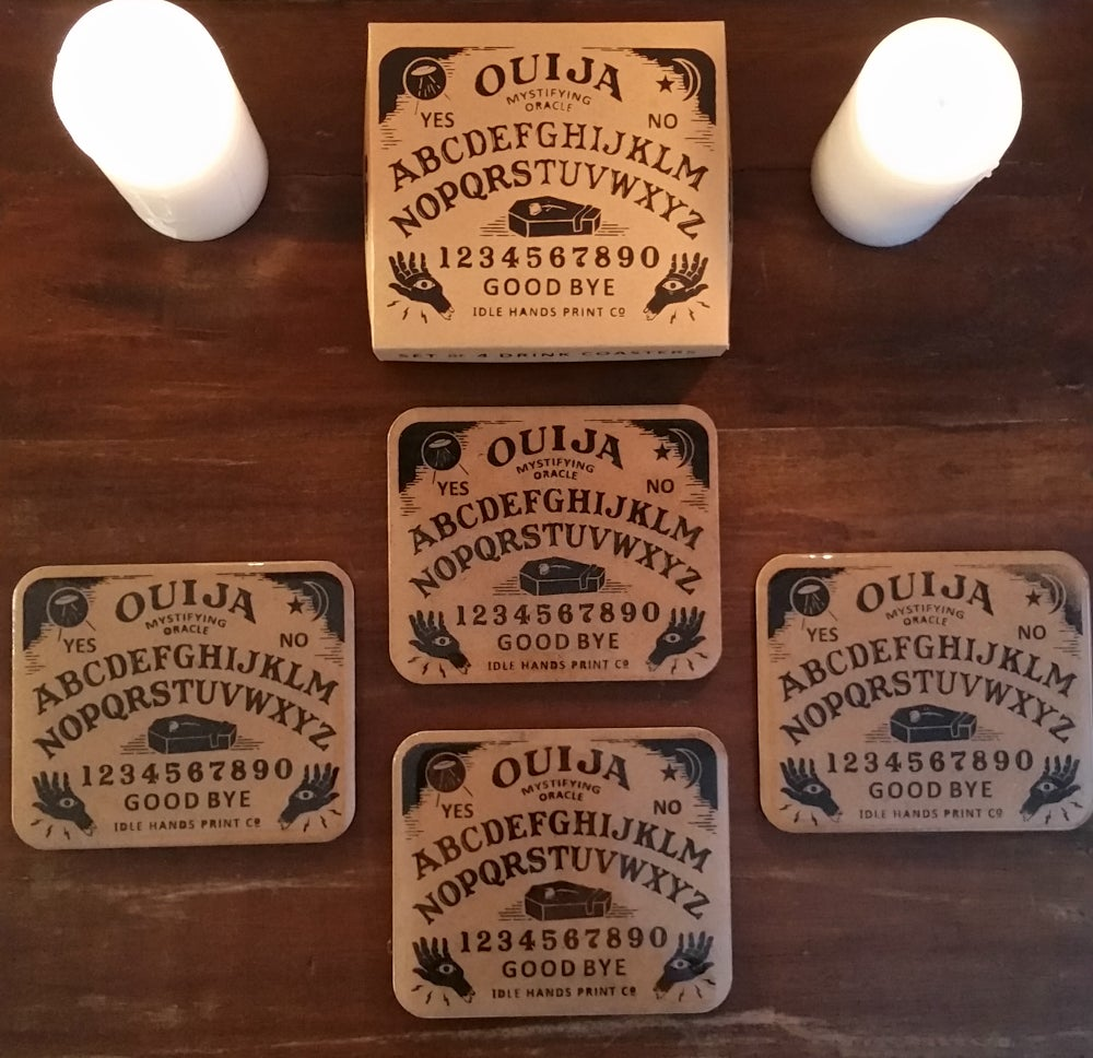 Image of Ouija Board Drink Coasters (Set of 4)