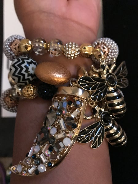 Image of Queen Bee Charm bracelet