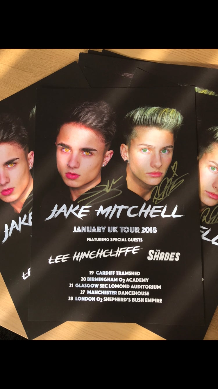 Image of Official Jake Mitchell Tour poster