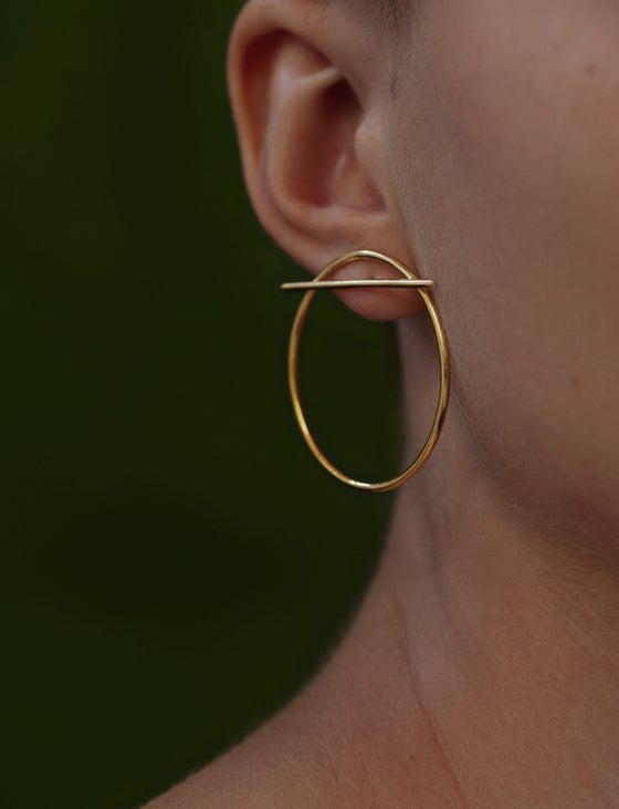 Image of HORIZON EARRING GOLD