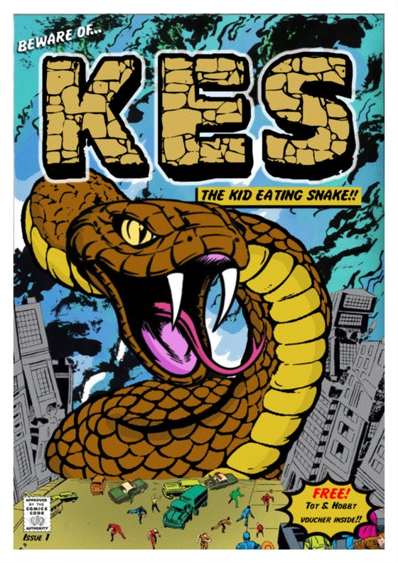 Image of 'KES - The Kid Eating Snake' Print