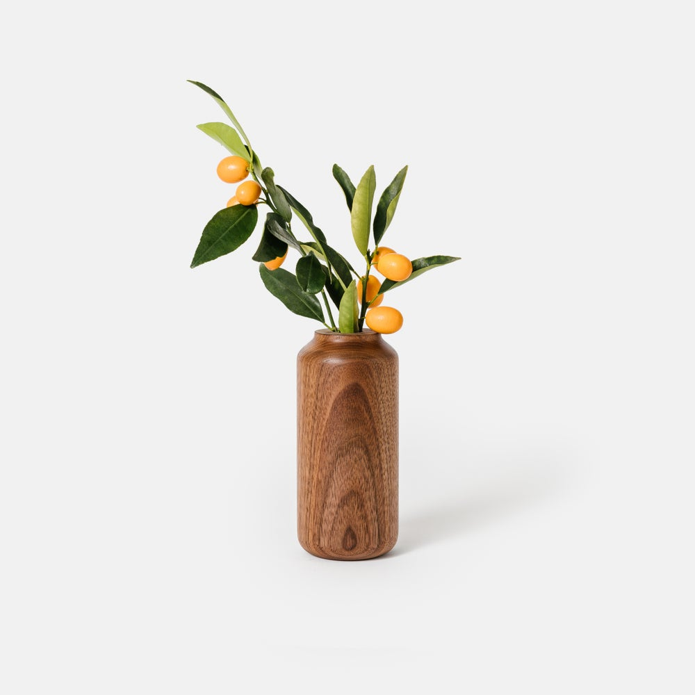 Image of Tall + Wide Walnut Vase
