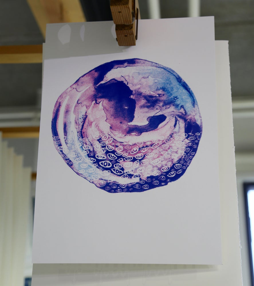 Image of E Y E S   S H U T  Limited Edition Screen Print