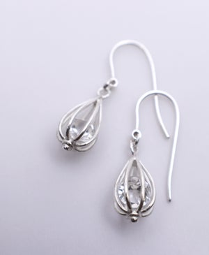 "Image of Small ""Momento"" Teardrop Earrings with Crystal"