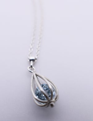 "Image of Small ""Momento"" Teardrop Necklace with Sky Blue Topaz"