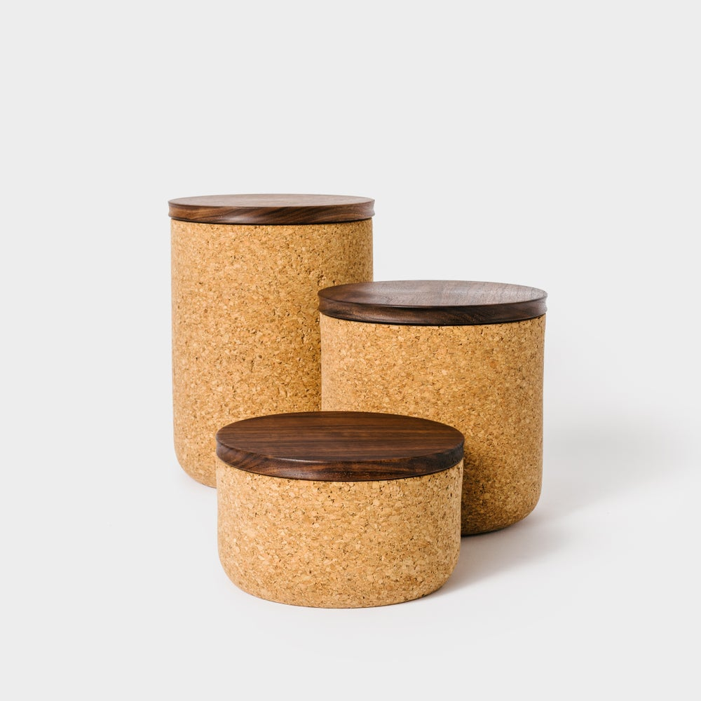 Image of Walnut Tea Canisters