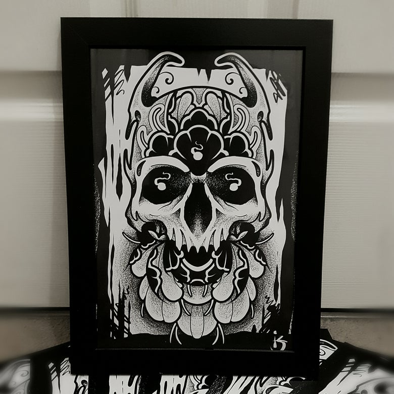 Image of Death Blooms - A4 Heavyweight Print