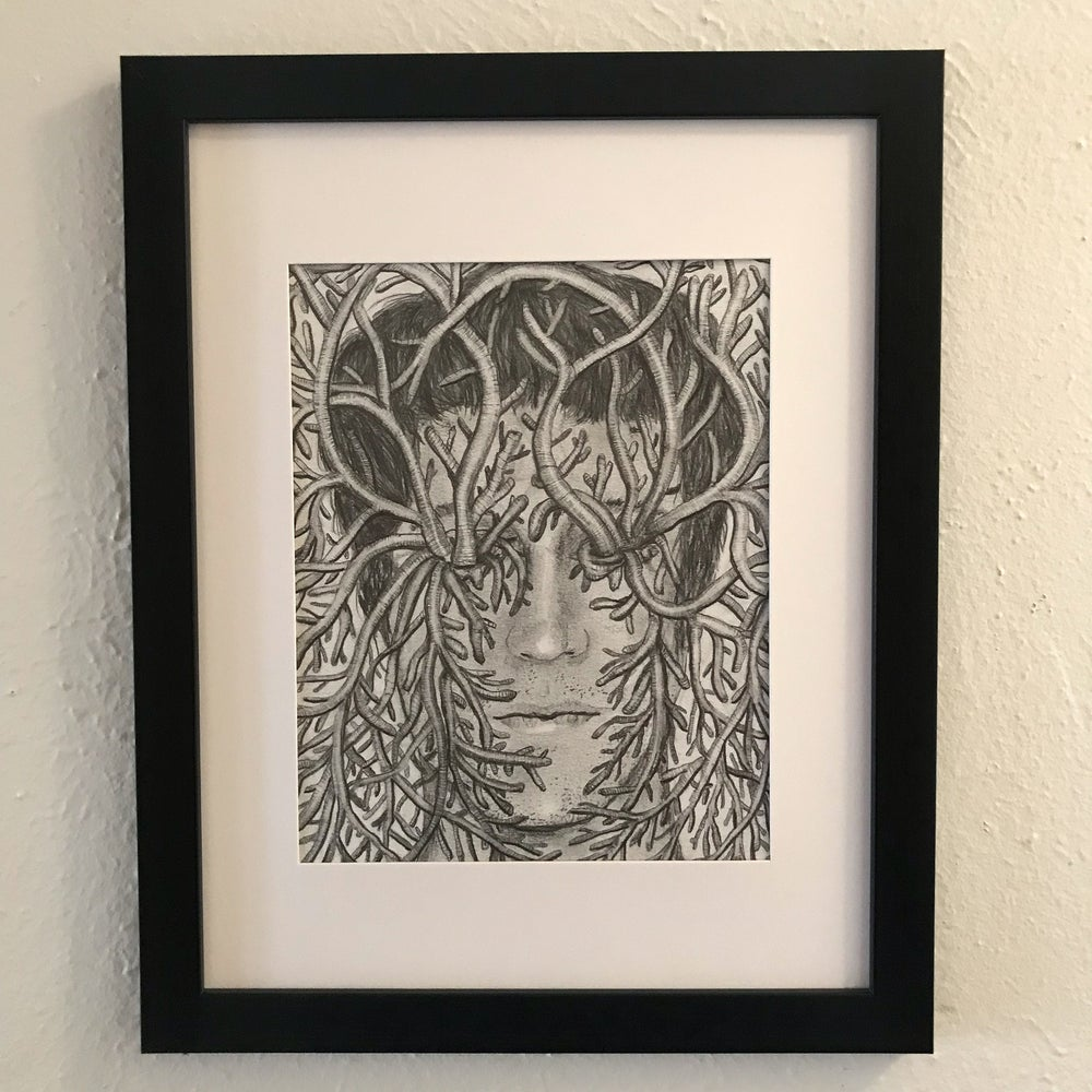 "Image of ""Good Intentions"" Framed 8""x10"" Original Drawing"
