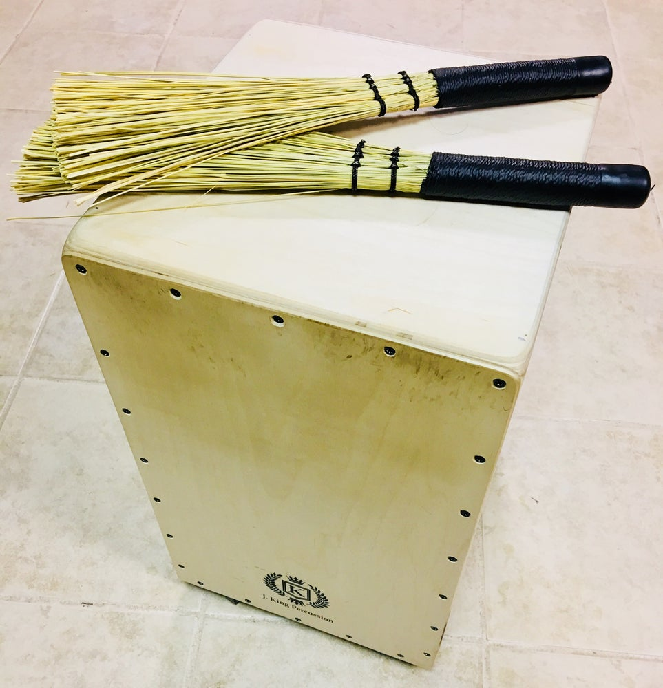 Image of Natural Broomcorn Cajon Brushes - Extra Long