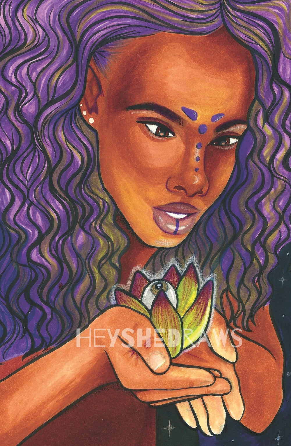 """Image of """"LOTUS FLOWER BOMB"""" Print (Matte or Holo)"""