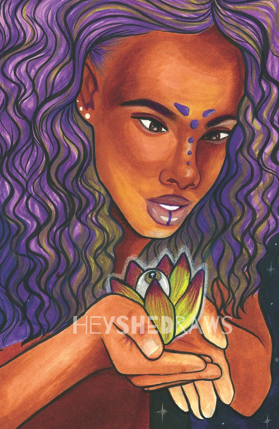 "Image of ""LOTUS FLOWER BOMB"" Print (Matte or Holo)"