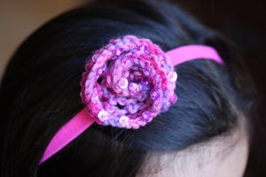 Image of Knitted Flower Headband