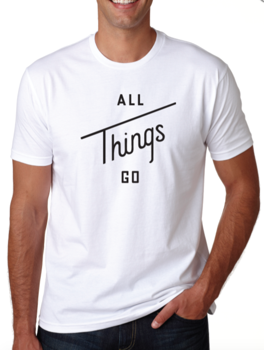 Image of All Things Go White Tee (Crew-Neck)