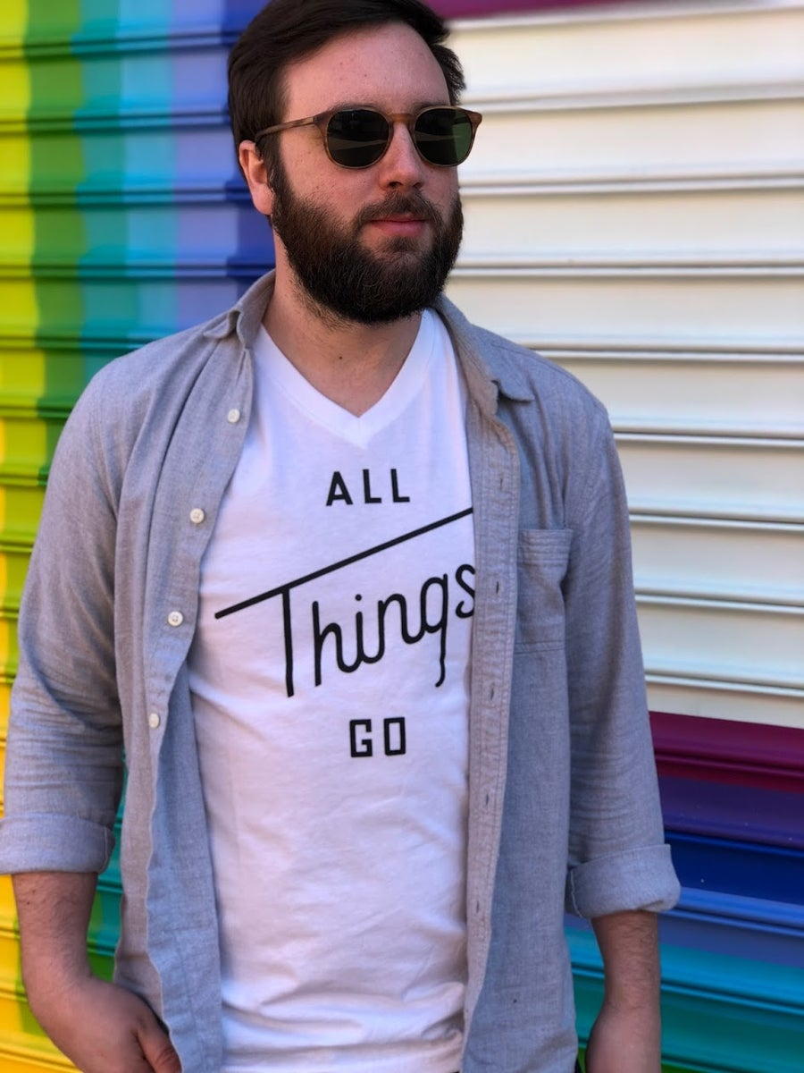 Image of All Things Go White Tee (V-Neck)