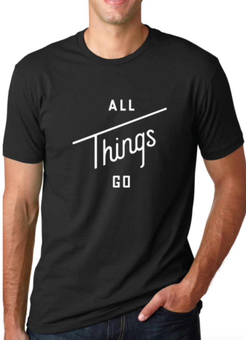 Image of All Things Go Black Tee (Crew-Neck)