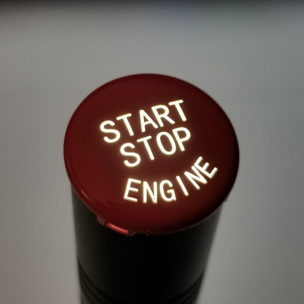 Image of Gloss Red Push Start Button (NEW)