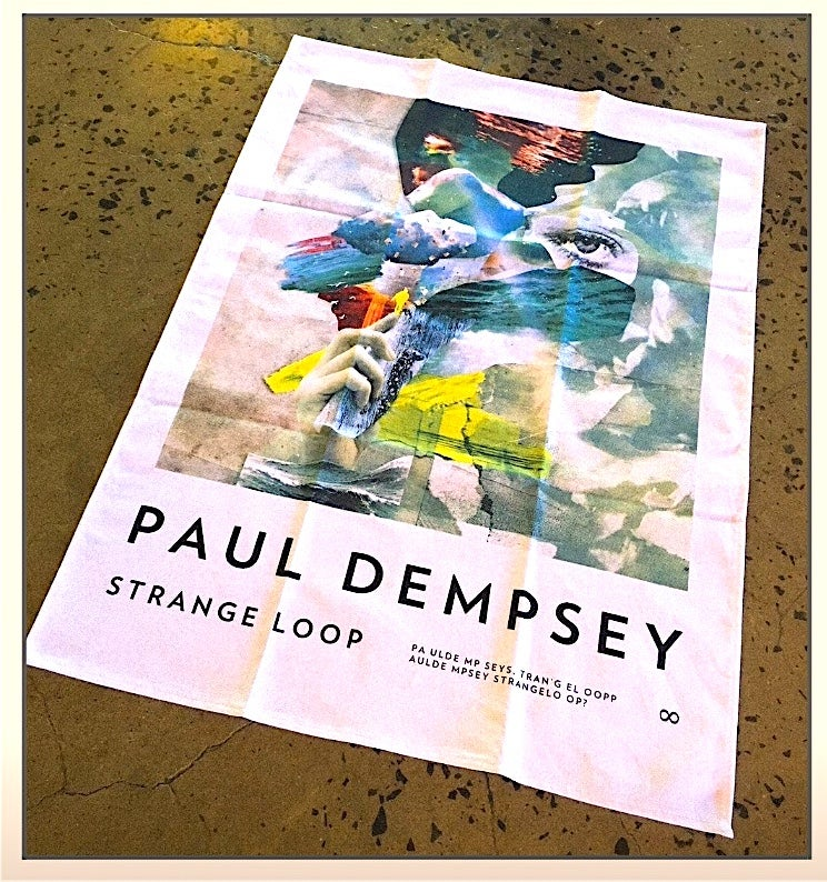 Image of Paul Dempsey Strange Loop tea towel /dish towel.