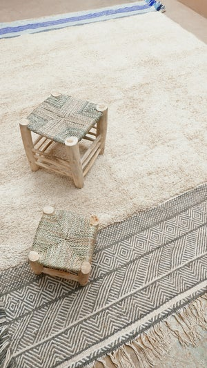 Image of Moroccan Rug -  Flatweave and Knot