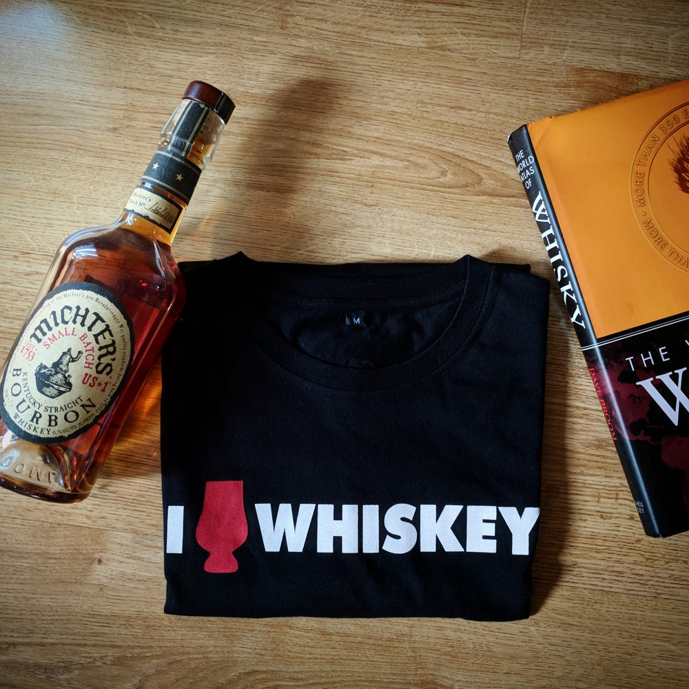 Image of I Heart Whiskey - Black T-Shirt