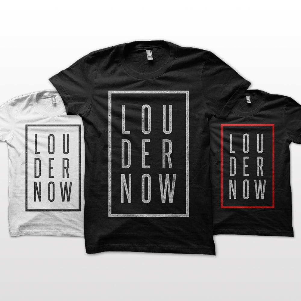 "Image of LOUDERNOW ""Classic"" Logo Shirt"