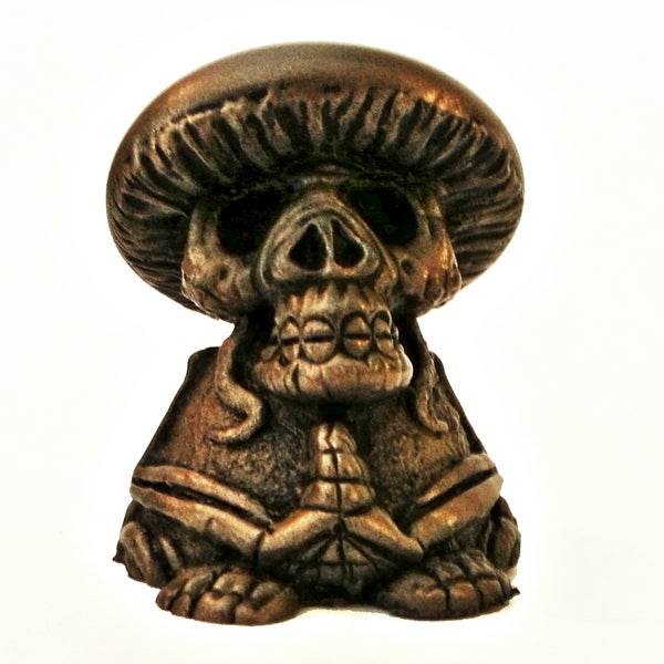 Image of COLD CAST BRONZE DEATH CAP (amanita must scare ya) 3 inch resin
