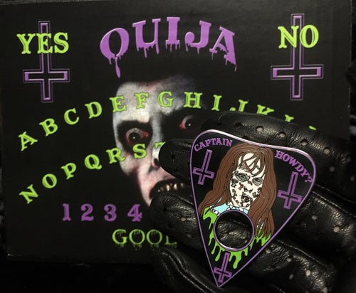 Image of Captain Howdy? Planchette Pin