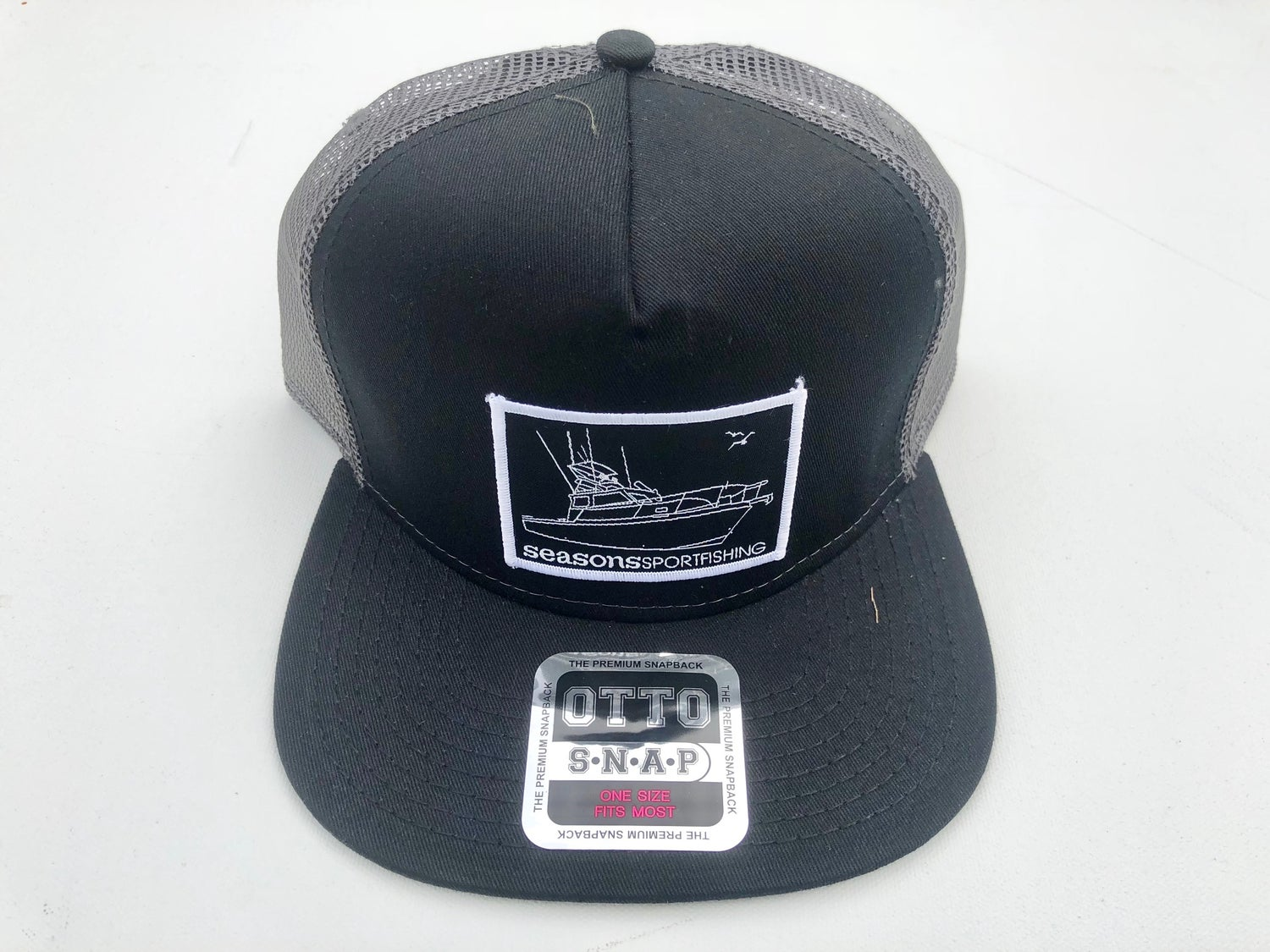 Image of SEASONS - BLACK / GRAY MESH SNAP BACK - MOTHERSHIP