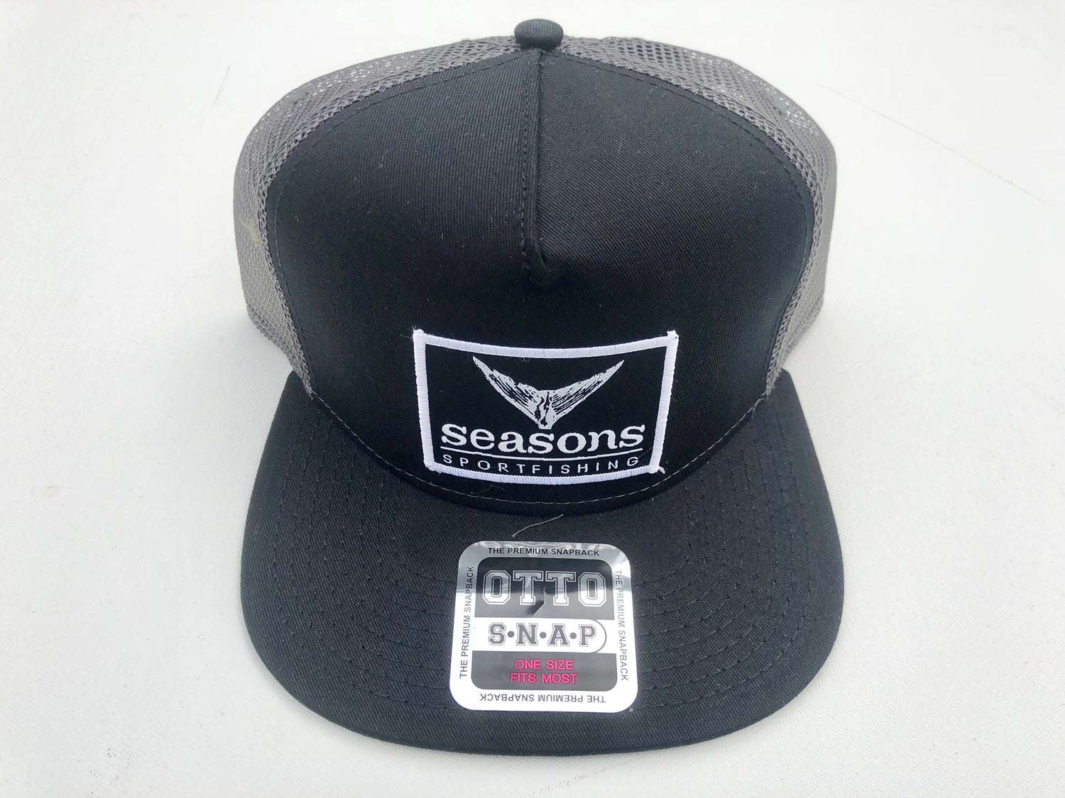 Image of SEASONS - BLACK / GRAY MESH SNAPBACK - TUNA TAIL