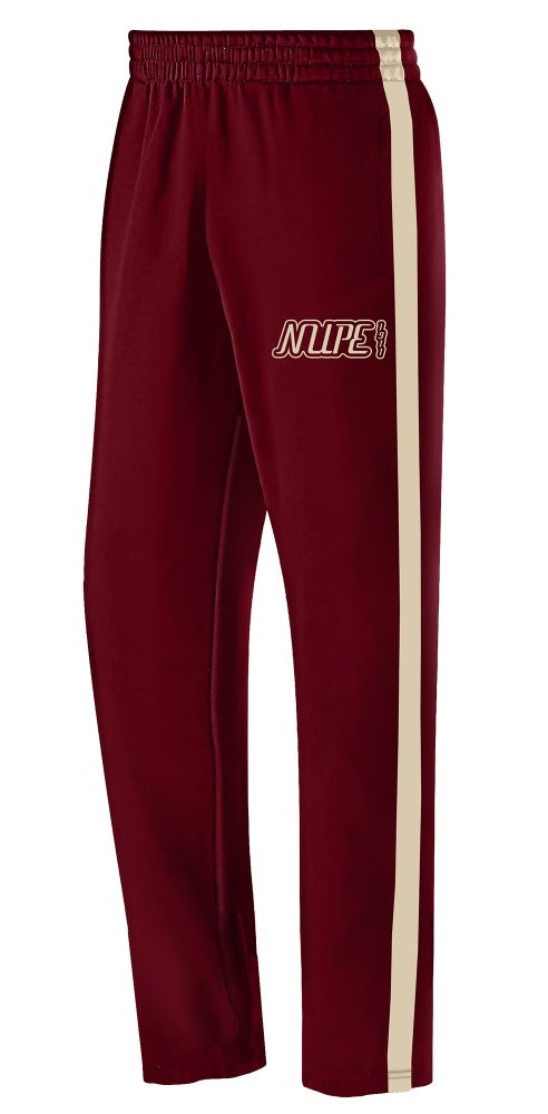 Image of Track Pants (Wide Stripe) - Crimson
