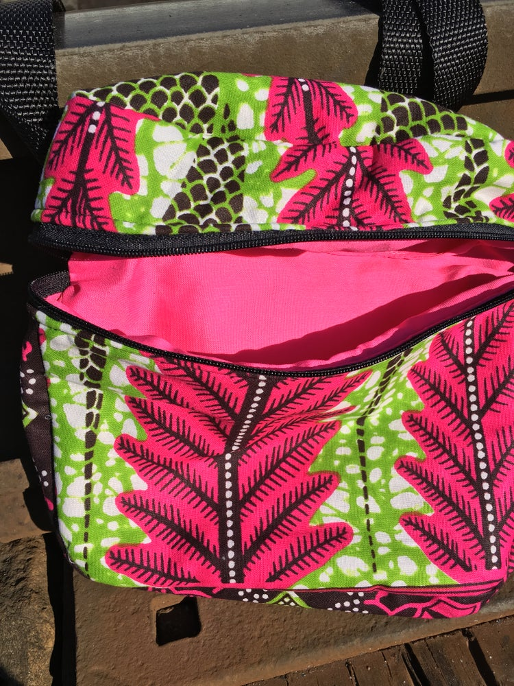 Image of Pink and green Fern Fanny pack