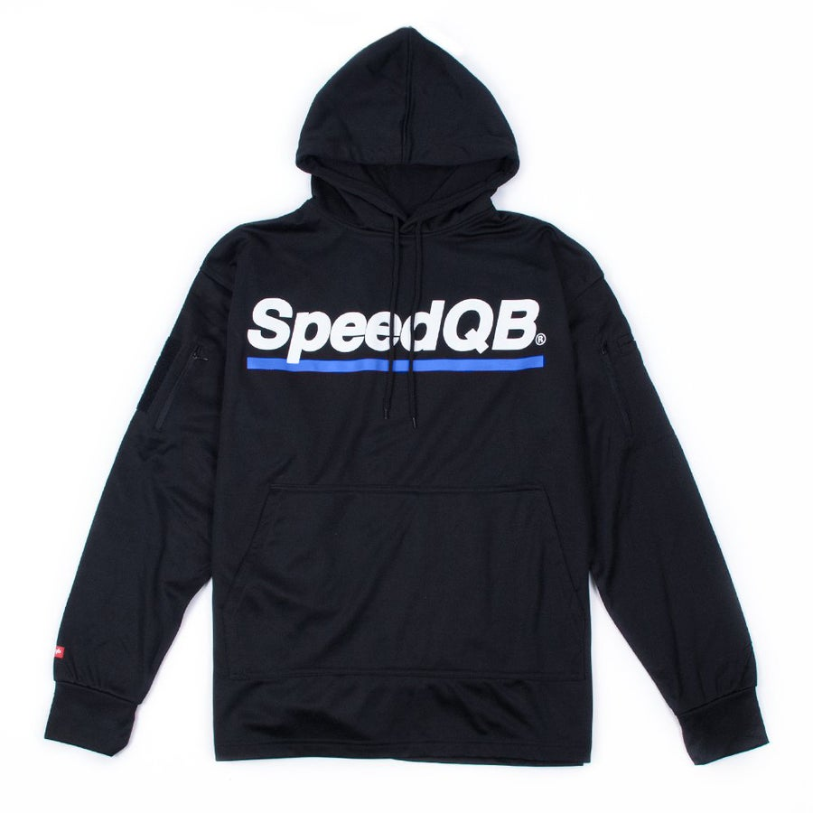 Image of SpeedQB Tech Hoodie (Black/Blue)