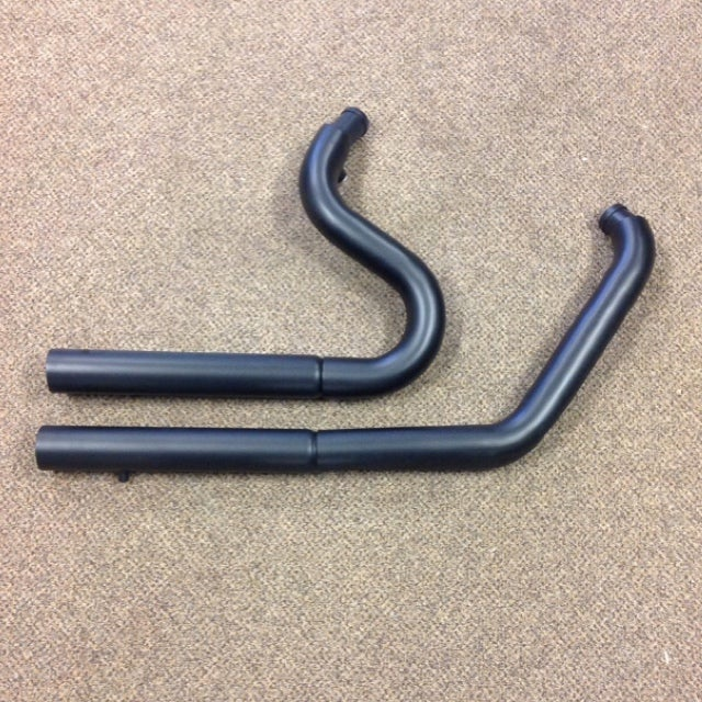 Image of Snub Nose Exhaust for HD Softail models (Black or Chrome Available)