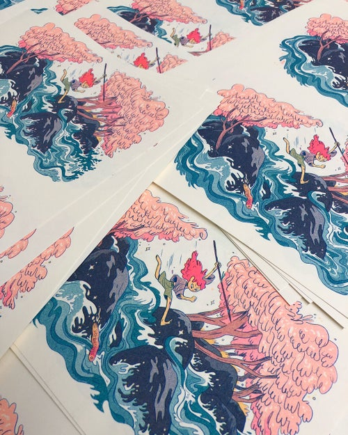 Image of Wild River Girl Print