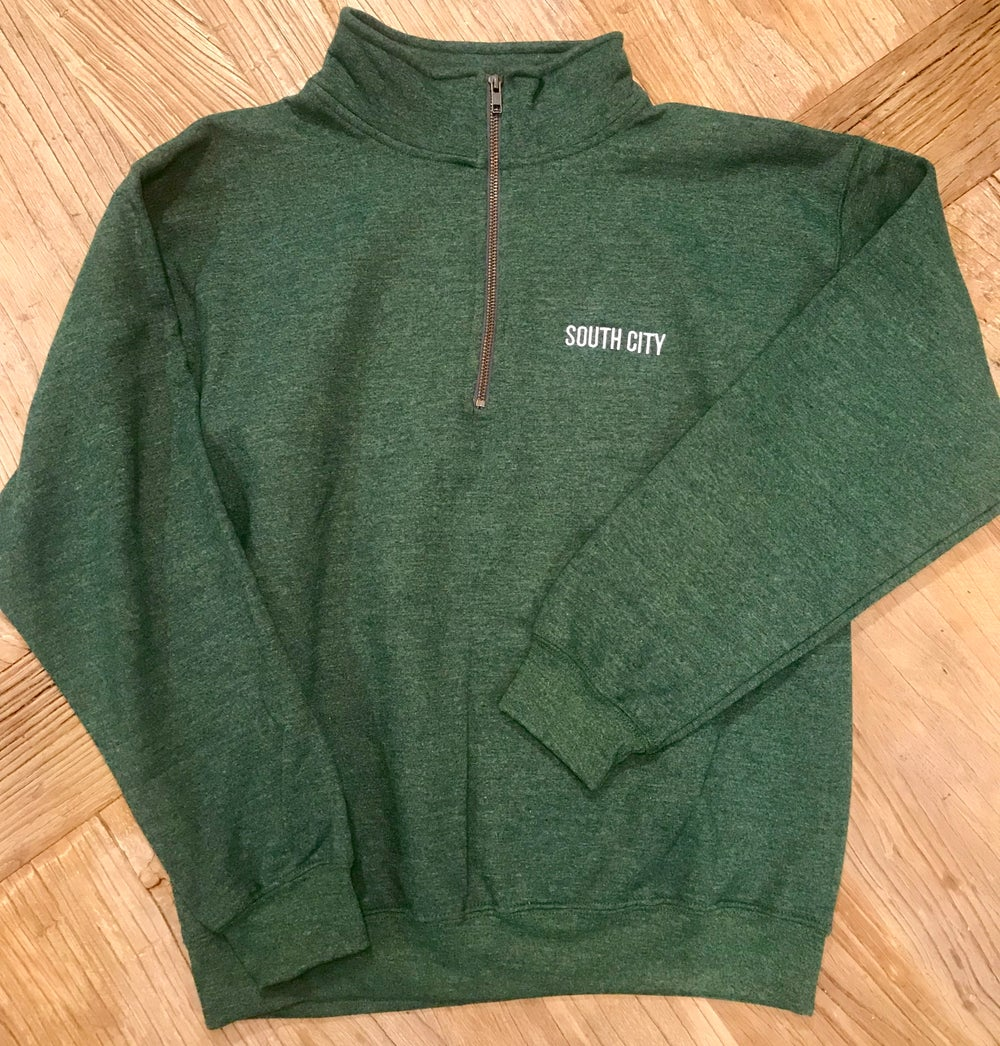 Image of Quarter-Zip Sweatshirt w/ Contrast Zipper