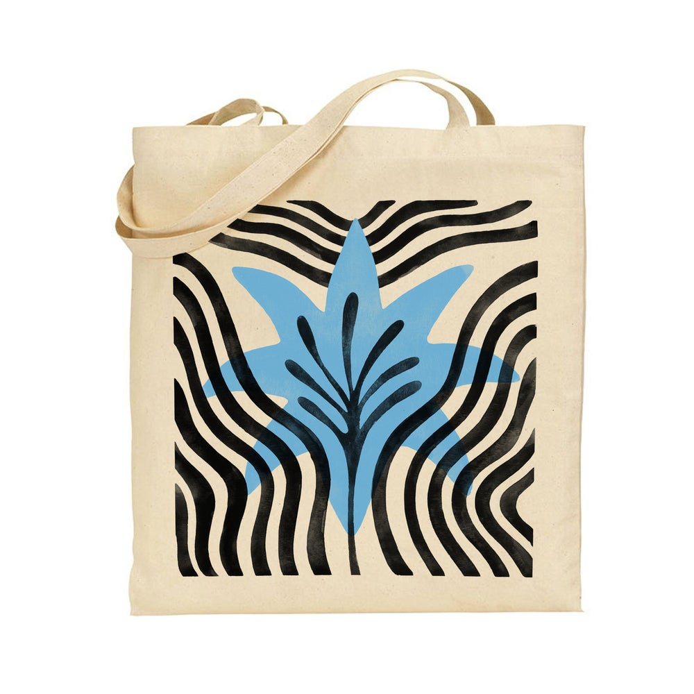 Image of Blue Flower Tote
